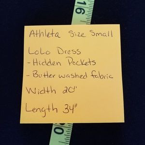 Athleta Dresses - Athleta Lolo Dress Size Small Black Pockets